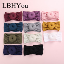 11pcs New Knot Bows Nylon Headbands,Wide Bow Turban Headbands,Baby Girls Round Cable Knitted Head Wraps Hair Accessories