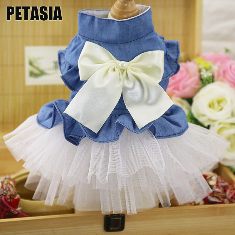 Hot sale Pet Dog Cat Skirt Dress Princess Dog Pink Blue For Small Dog Girl Dress Spring and Summer Teddy Puppy Chihuahua