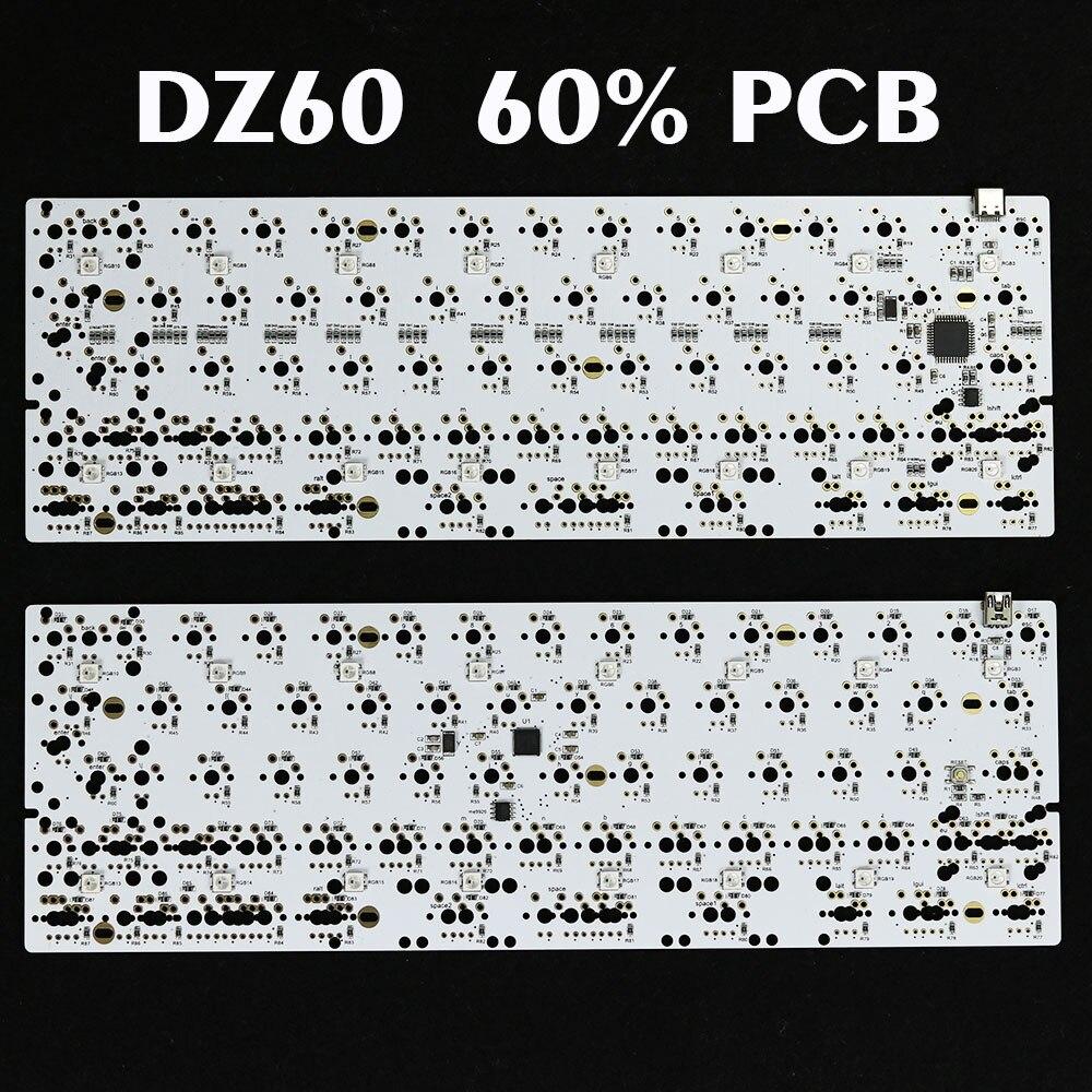 DZ60 PCB 60 keyboard Custom mechanical keyboard support arrow key Underglow RGB programmed GH60 Type c