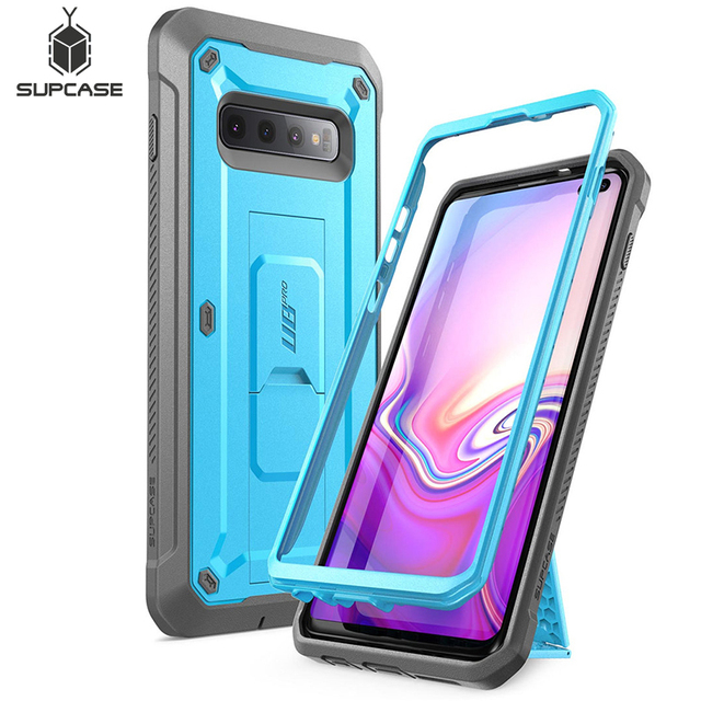"SUPCASE For Samsung Galaxy S10 Plus Case 6.4"" UB Pro Full Body Rugged Holster Kickstand Cover WITHOUT Built in Screen Protector"