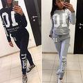 Fashion Womens 2Pcs Hoodies Sweatshirt Pants Set Casual Tracksuit Women Clothes Sets Suit