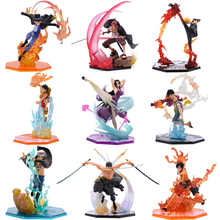9 PCS Anime One Piece Luffy Zoro Sanji Shanks Sabo Ace Law PVC Action Figure Battle Ver Collectible Model Gift Toy цена в Москве и Питере