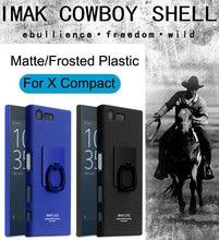 Imak Ковбой Чехол Пластиковую Крышку Для Sony Xperia X Компактный Кончиком большого пальца Кольцо Матовое Защитной Оболочки