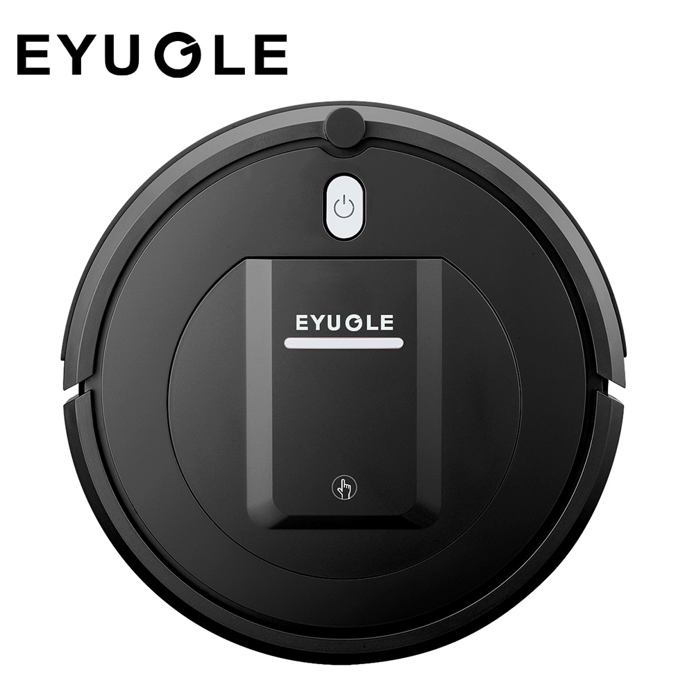 Robotic Vacuum Cleaner with High Power Suction 3 Cleaning Modes, 500pa, Anti-fall Anti-collision Protection, Dust Box with Double Filtration, Suitable for Hard Floor and Carpet EYUGLE KK290A