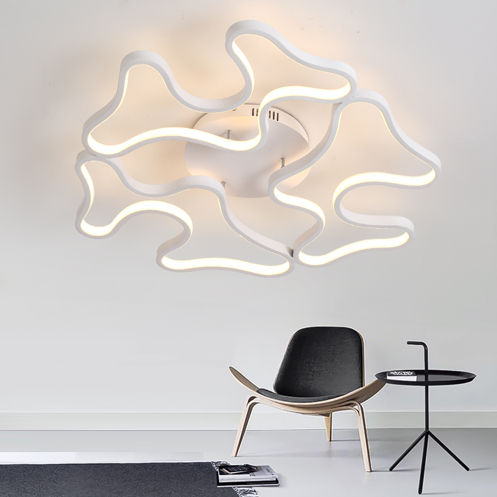 Led Ceiling Lights Modern Ceiling Lamp for Living Room Bedroom Dining Room Home Lights Dimmable With Remote luminaire plafonnier dimmable led ceiling lights fixture modern luminaire plafonnier led for living room kitchen bedroom indoor ceiling lamp