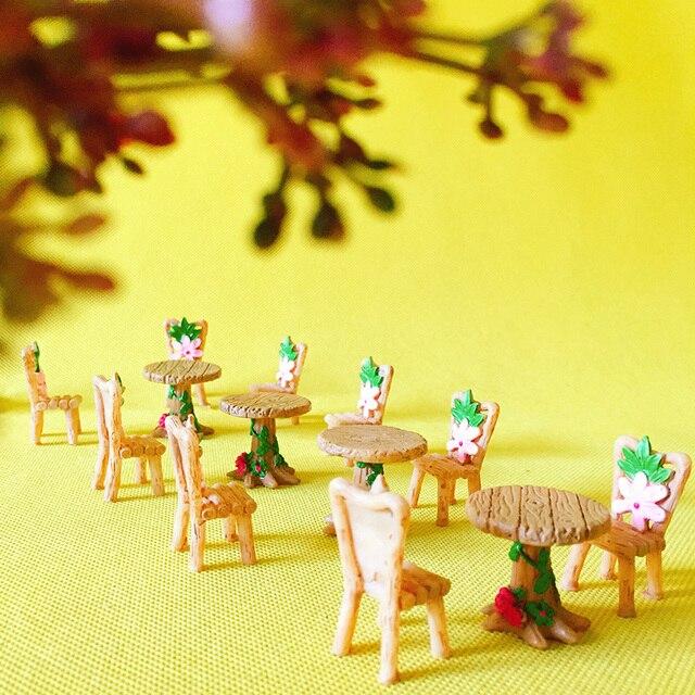 Table Chair/fairy Garden Gnome/moss Terrarium Home Decor/bonsai/bottle  Garden