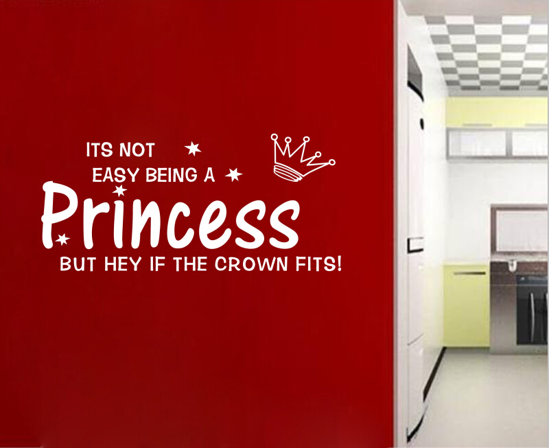 Free Shipping Its Not Easy Being A Princess Romantic Warmly Quotes