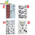 9 Types Suicide Squad Harley Quinn Joker Cosplay Small Ugly Tattoo Sticker Kids Classic Fun Halloween Party Gifts