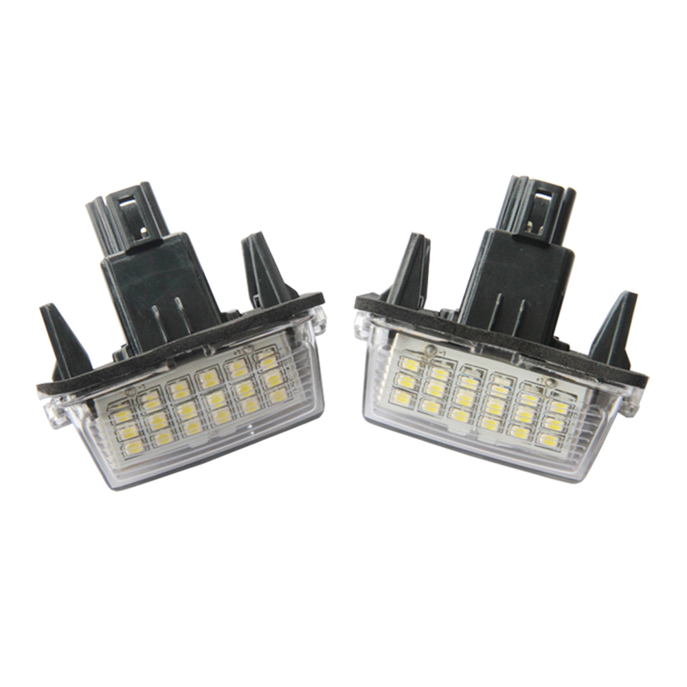 2pcs/lot canbus LED Number License Plate Lamps OBC Error Free 18 LED For Toyota Yaris Camry Led Rear Registed license light led waterproof number white license plate light lamps obc error free 18 led for bmw x3 e83 x5 e53