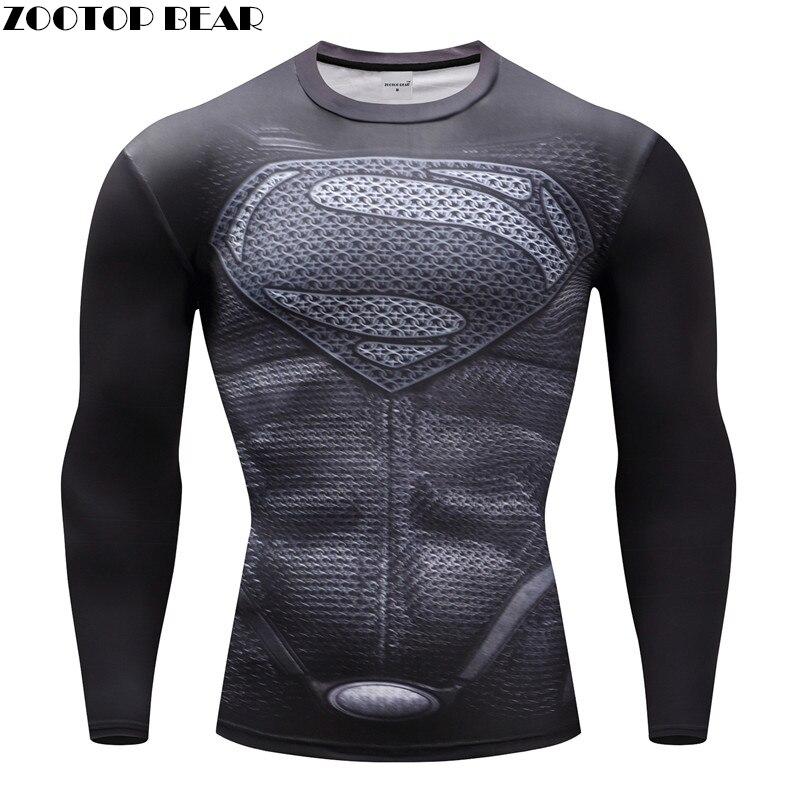 Superhero T-shirts Männer Kompression T-shirts Bodybuilding Fitness Tops Tees Superman Batman Iron Man Cosplay Marke Crossfit