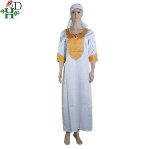 Image 4 - アフリカ女性のための Dashiki 刺繍白バザンドレスプラスサイズの女性服アフリカローブ africaine マキシドレス 3xl 4XL