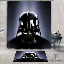 Custom star wars (1)) Waterproof Shower Curtain Doormat Home Bath Bathroom Polyester Fabric Multi Sizes#2019-01-12-317(China)