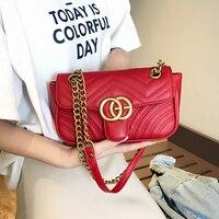 2019 Luxury Leather Women Messenger handbags Famous Brand Women Bags Designer Lady Classic Plaid Shoulder Crossbody Bags