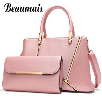 Beaumais Genuine Leather Bag For Women High Quality Brands Fashion Single Shoulder Bag Women Handbag Female Crossbody Bag DF0167