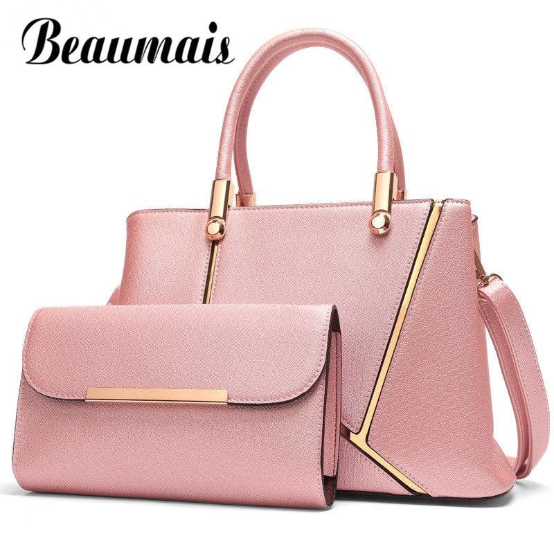 여성을위한 beaumais 정품 가죽 가방 고품질의 브랜드 패션 싱글 숄더 가방 여성 핸드백 여성 crossbody 가방 df0167-에서탑 핸드백부터 수화물 & 가방 의  그룹 1