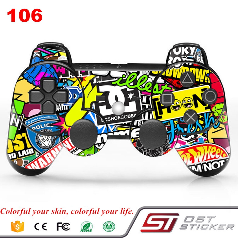 Bombing vinyl decal for ps3 slim controller skin sticker for game accessories