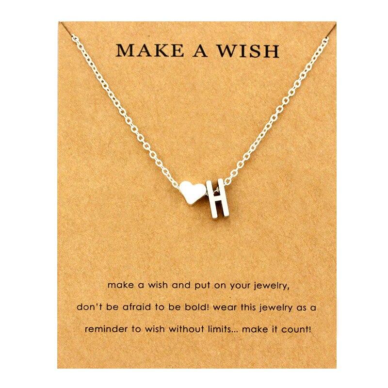 Сердце начальные Подвески ожерелье s персонализированное ожерелье с буквами Имя ювелирные изделия для женщин мужчин аксессуары подруги любовника пара подарок - Окраска металла: NE1662