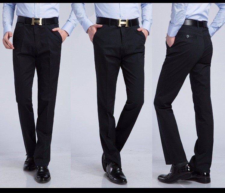 17 Men's Casual pants brand Men thin long dress pants Straight Business Casual male Pants Leisure Long Trousers 10