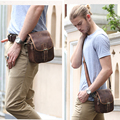 New Vintage Natural Real Leather Waist Pack Chest Bag Men Fanny Pack Bum Bag Day Pack Pouch Hip Belt Bag Brown Small Messenger