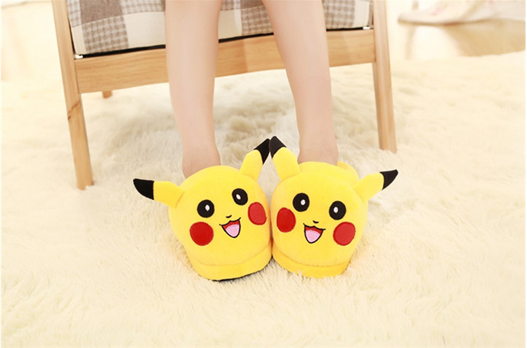 Costume Props Costumes & Accessories Huolun New Winter Home Cotton Warm Plush Slippers Cute Cartoon Pokemon Pocket Monster For Pikachu Lovers Shoes