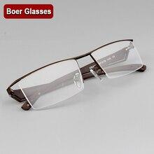 40d6dd9476 Fashion Brand Men s Half rimless Eyeglasses Metal Glasses prescription  eyewear RXable 4001 size 57-18