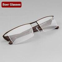 Moda Gatunku męska Pół rimless Okulary Metalowe Okulary korekcyjne okulary RXable 4001 rozmiar 57-18-140 Czarny Gunmetal