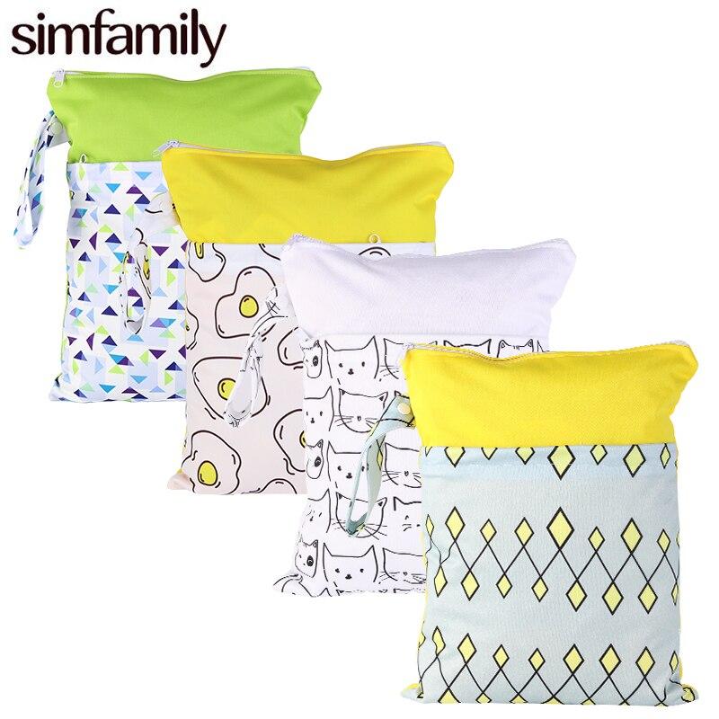 1 шт., многоразовая сумка для подгузников simfamily, 30*40 см