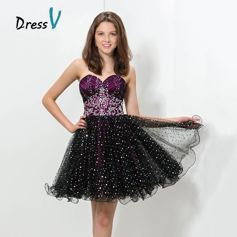 2016 Luxury Plus Size Graduation Dress Short Homecoming Dresses Dark ...