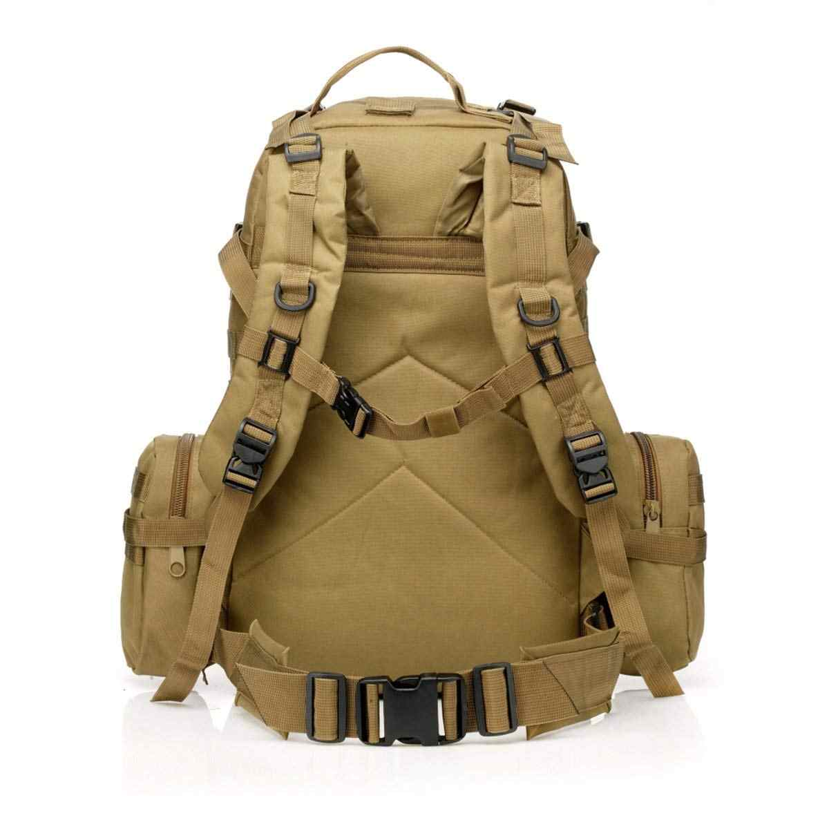... Outdoor 50L Military Rucksacks Tactical Molle Backpack Assault Pack  Combat Backpack Trekking Bag 4 In 1 ... 849178424c092