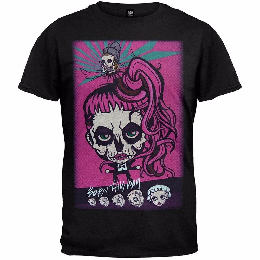 Lady Gaga Gaga Skeleton Cartoon Tour Soft T-Shirt Fashion Short Sleeved T-Shirt For Men Summer Funny Tee Shirt