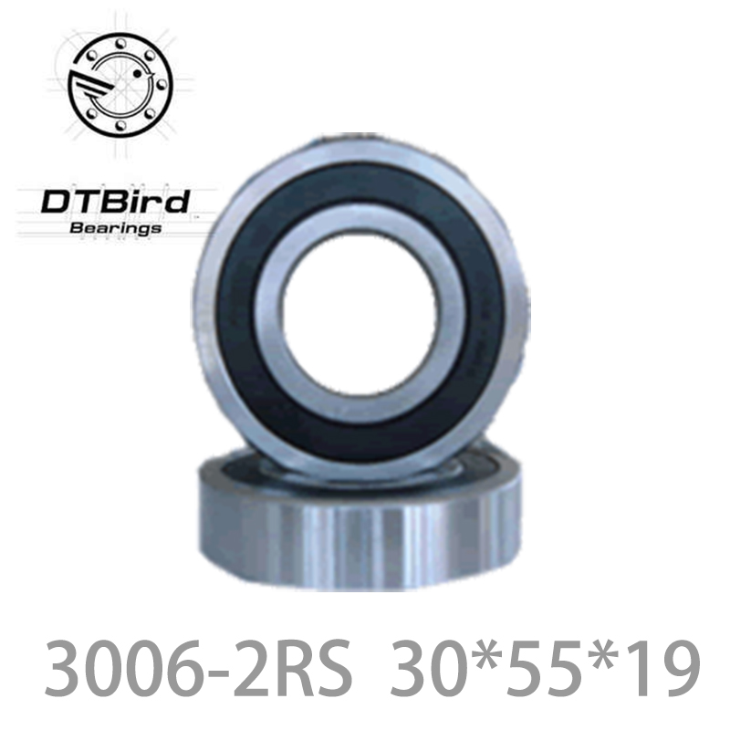 3006-2RS 3006RS 3006 2RS 30mm x 55mm x19mm black double rubber sealing cover deep groove ball bearing 30*55*19 mm 10pcs 608 2rs 608rs 608 2rs 8mm x 22mm x 7mm black double rubber sealing cover deep groove ball bearing for hand spinner