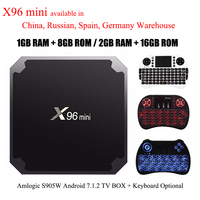 X96 Mini Android 7 1 2 TV BOX 2GB 16GB 1GB 8GB Amlogic S905W Quad Core