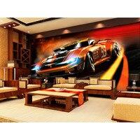 2016 באיכות גבוהה 3D מכונית ספורט דינמי התאמה אישית של אמנות ציור קיר סלון חדר ילדים חדר שינה טפט ציור קיר טפט תמונה #262