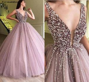 Image 1 - Gorgeous Quinceanera Dresses Ball Gowns Beaded Zipper Back Floor Length Long Sweet 16 Quinceanera Gowns Birthday Party Dresses