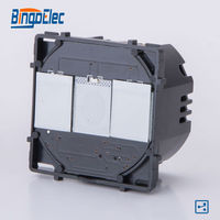 2gang 2way Black Touch Switch Modular Function Part No Panel EU UK Standard Free Shipping