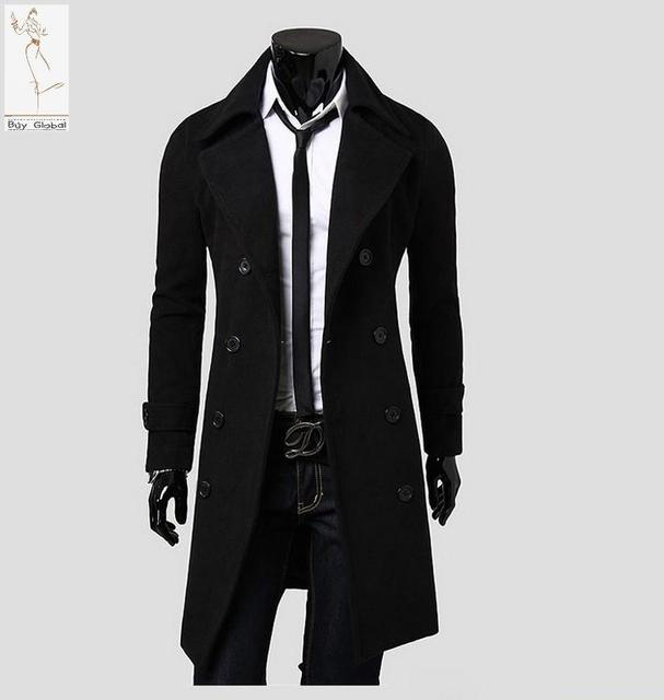 c0d7a6cc3471 S47 autumn and winter new full sleeves fashion men trench coat hot cotton  to keep warm comfortable long trench coats