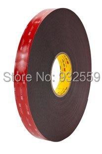 3M VHB Heavy Duty Mounting Tape 5952 Black, 3/4 in x 36 yd 45 mil 1piece 3m vhb 5952 heavy duty double sided adhesive acrylic foam tape black 150mmx100mmx1 1mm