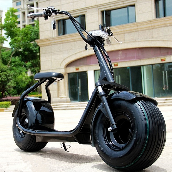 2017 Offre Spéciale 60 v 12.0AH batterie au lithium 1000 w puissance fat tire harley scooter électrique double siège giroskuter par-dessus bord scooter