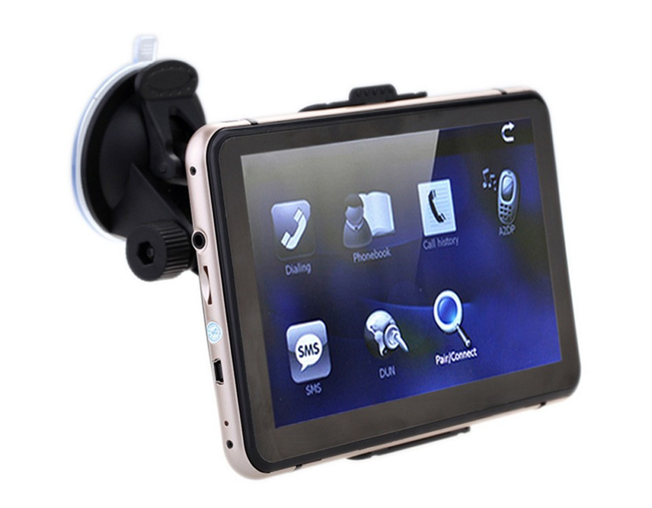 7 inch Touch Screen Car GPS Navigation 128MB RAM 4GB Portable Truck Navigator MP3 MP4 FM Video Play Vehicle GPS + Free Map -04