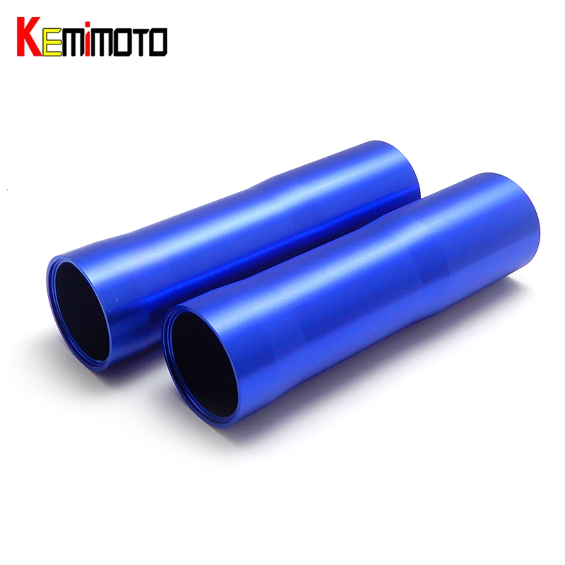 KEMiMOTO For YAMAHA MT 07 FZ 07 MT-07 FZ-07 Motorcycle Front Fork Tube Slider Cover MT07 2014 2015 2016 2017 for yamaha mt 07 fz 07 mt07 cnc aluminum front sprocket cover motorcycle part for yamaha mt07 fz07 2014 2015 2016 100% brand new