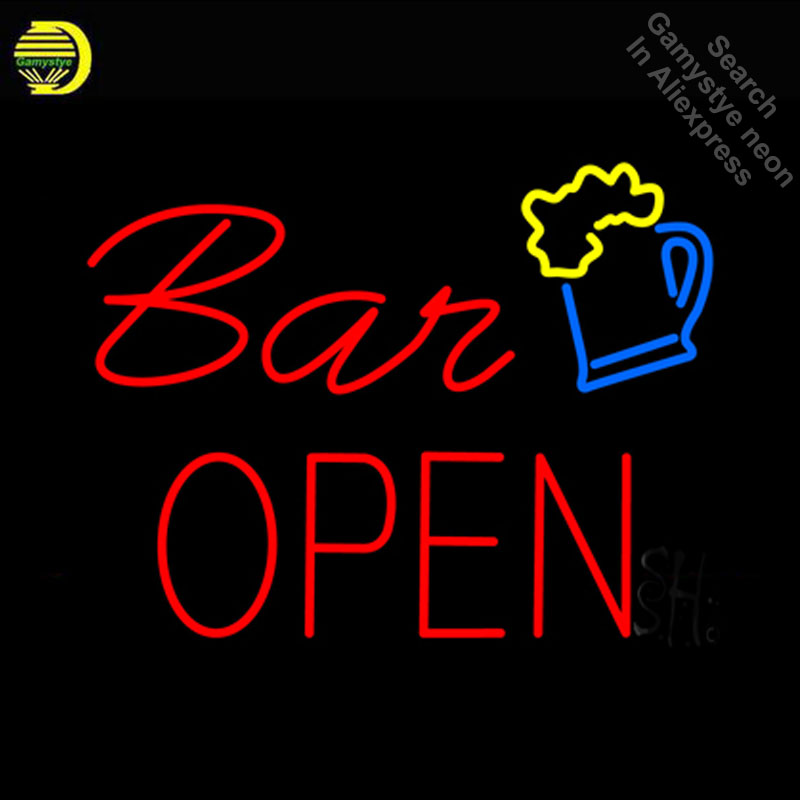 NEON SIGN For Bar Open With Beer Mug neon Light Sign Club