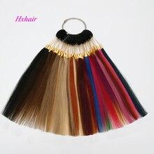 Remy человеческие волосы цветные кольца/цветные диаграммы 36 цветов/Extesnion инструменты для волос