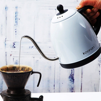 1L gooseneck Kettle Electric water Kettle Stainless Steel For Drip Coffee Tea 1500W Off Automatically Automatic Water Teapot