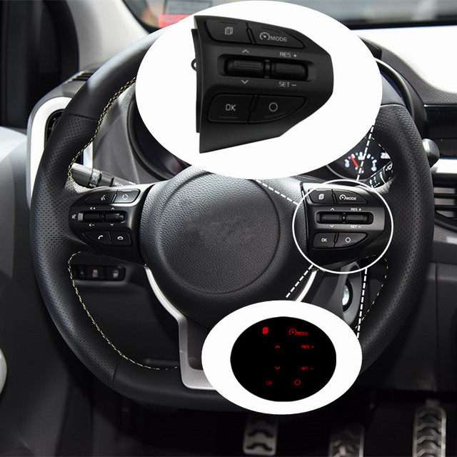Быстрая доставка! Для Kia Rio (K2) 2016-2017 2018 кнопки круизного контроля переключатель кнопки на руле.