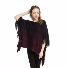 все цены на women pullover poncho knit acrylic feminino shawl knitted shawls capes stole 290g overpull femme poncho cape shawls wear