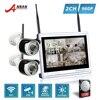 P2P 4CH CCTV Wireless NVR Kit 12 Inch Monitor 2pcs 36 IR 960P HD WIFI Outdoor