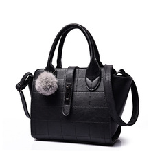 Fashion Chequer PU Handbag Women Hand Bag Japan&Korean Style Ladies Plaid Stylish Casual Single Shoulder Crossbody Bag
