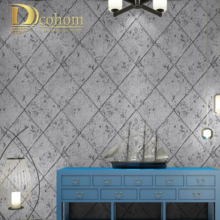Vintage Luxury Sandstone Lattice 3D Wallpaper For Walls Bedroom Living room Sofa TV Background Non Woven Wall paper Rolls