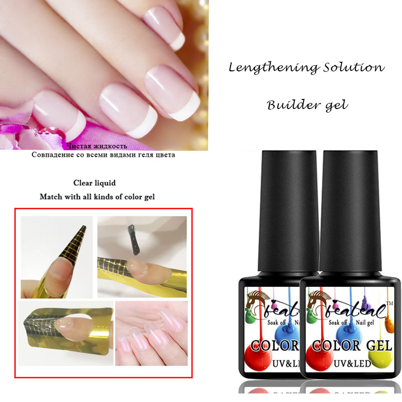 Beateal 8ml Free Shipping Thick Builder Gel Nails Prolong Finger Extension Nail Gel Poli ...