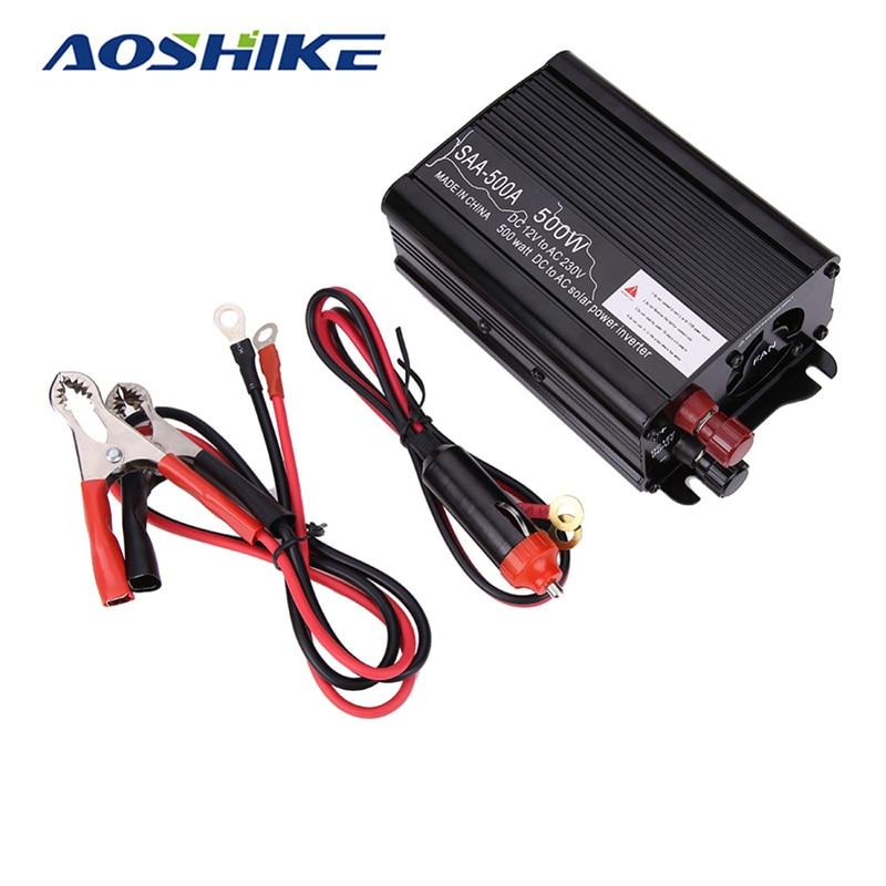 Aoshike 500w Power Converter Car Inverter Modified Sine Wave DC 12V to 220V AC inverters Adapter Voltage transformer imari